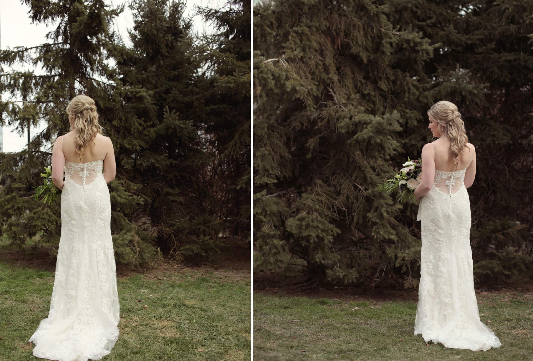 bride with pine trees toronto