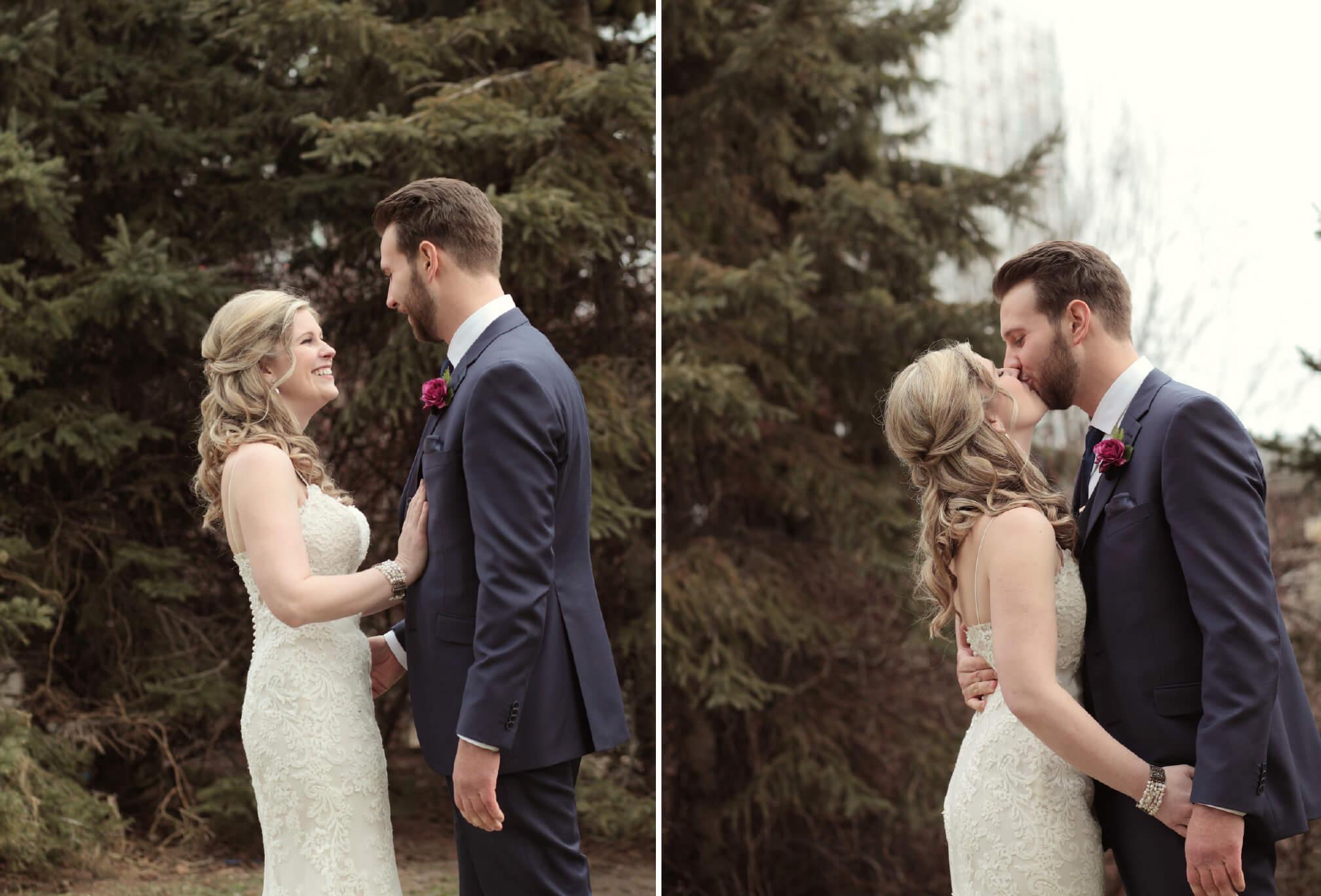 first look bride and groom toronto wedding