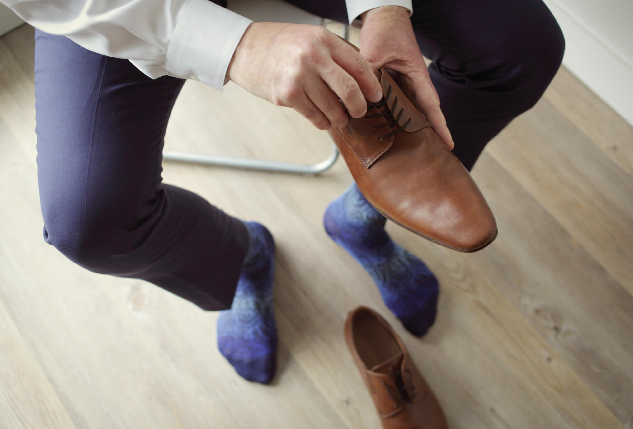 brown shoes groom style
