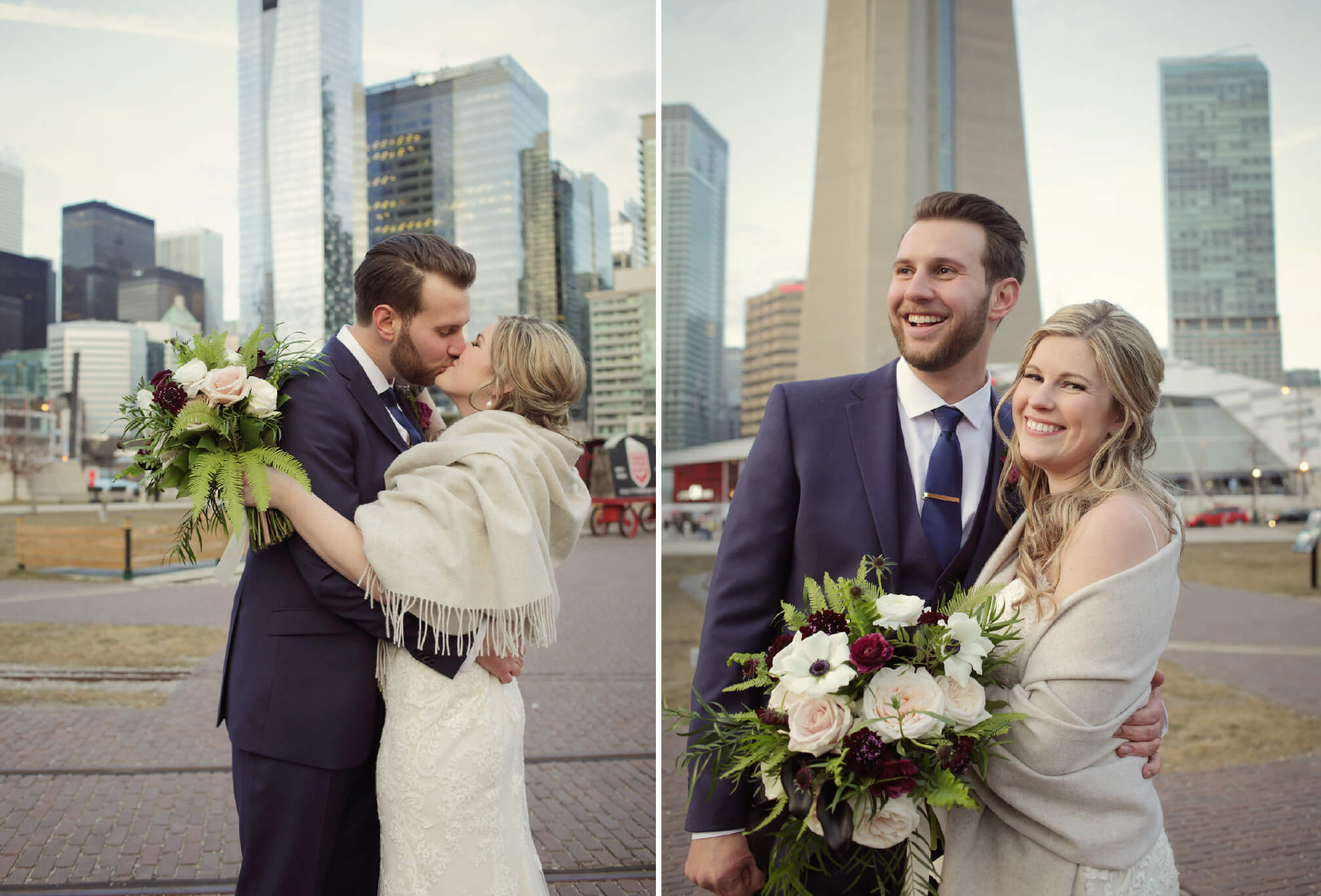 bride and groom downtown toronto pictures