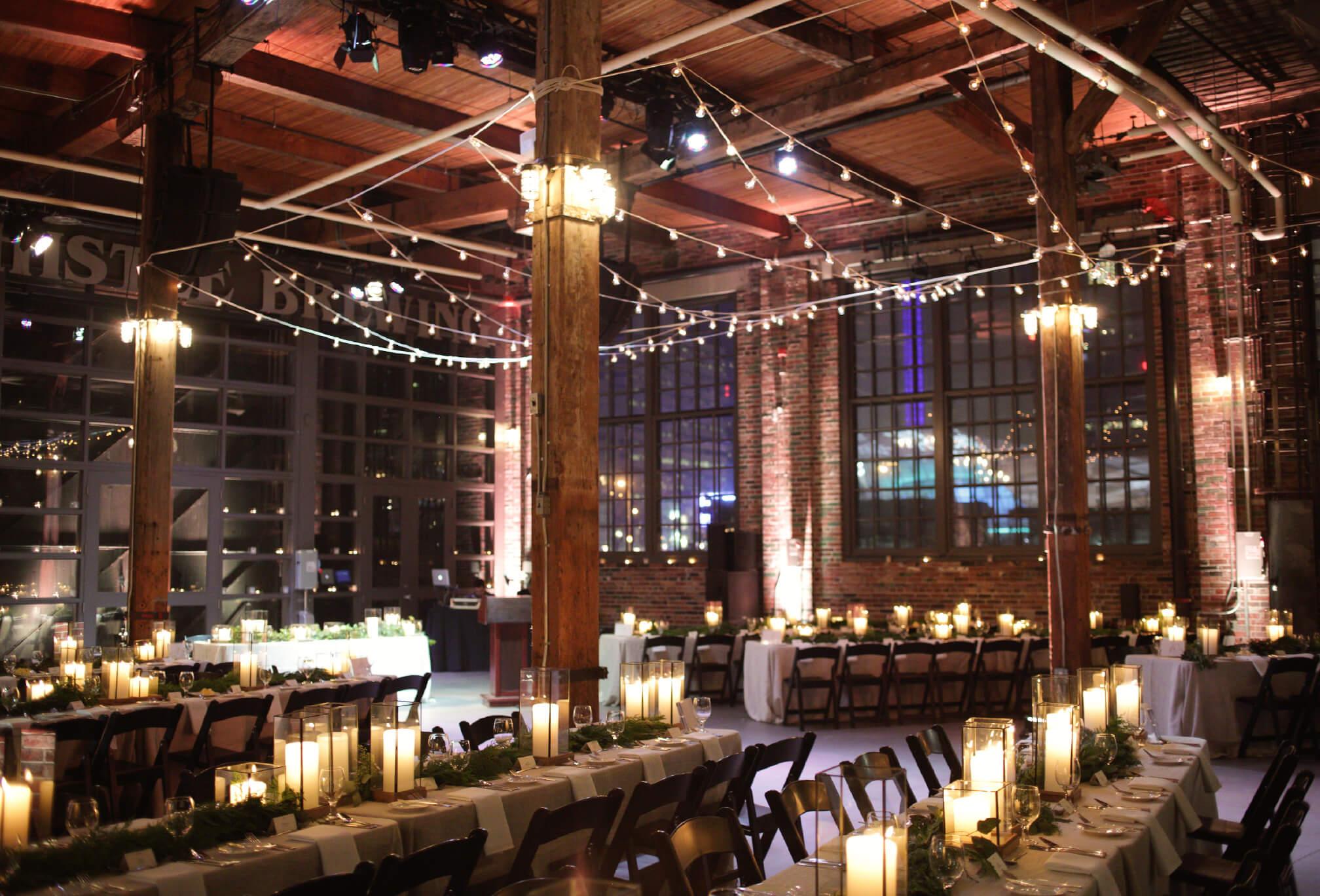steam whistle wedding decor winter