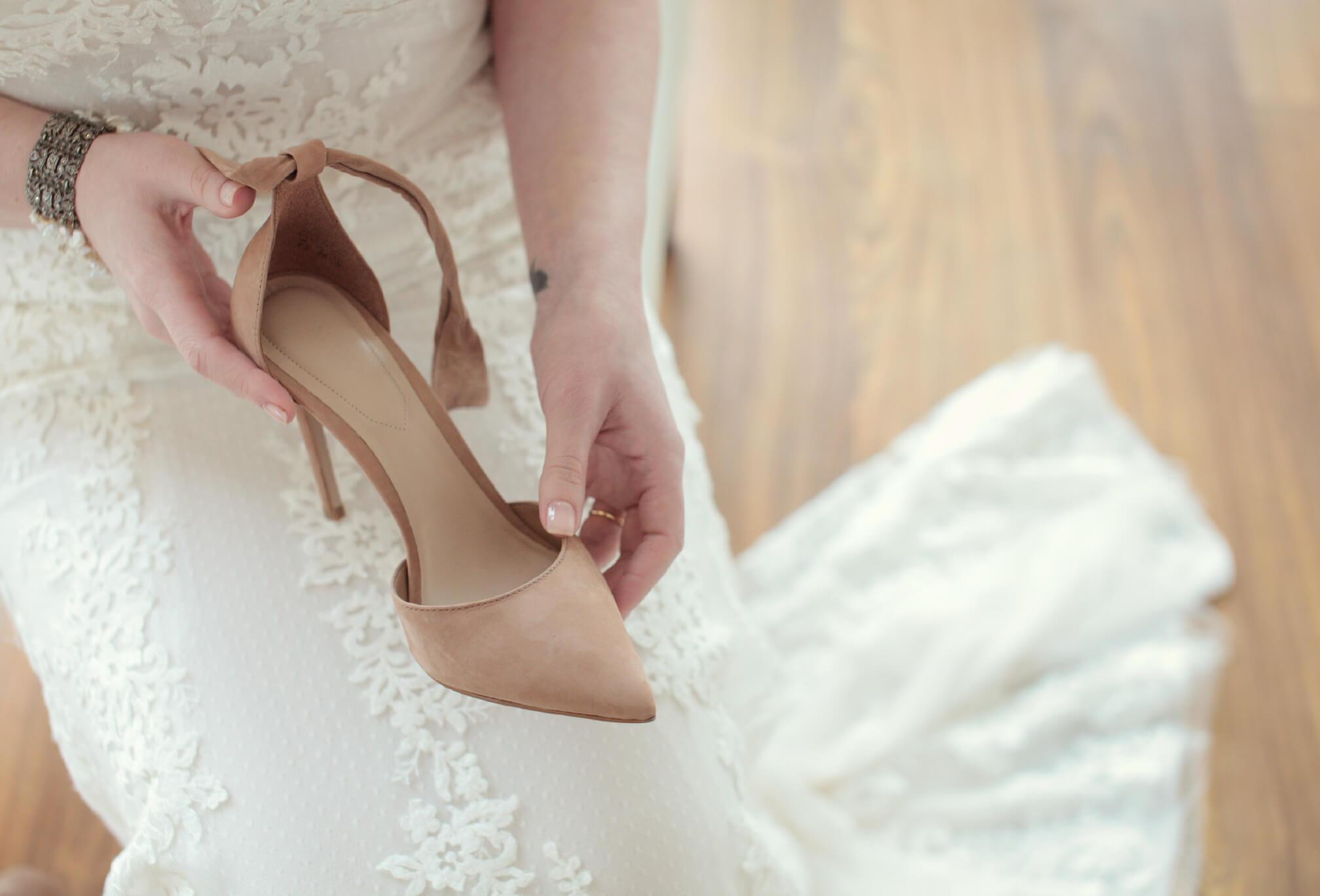 winter wedding style bride