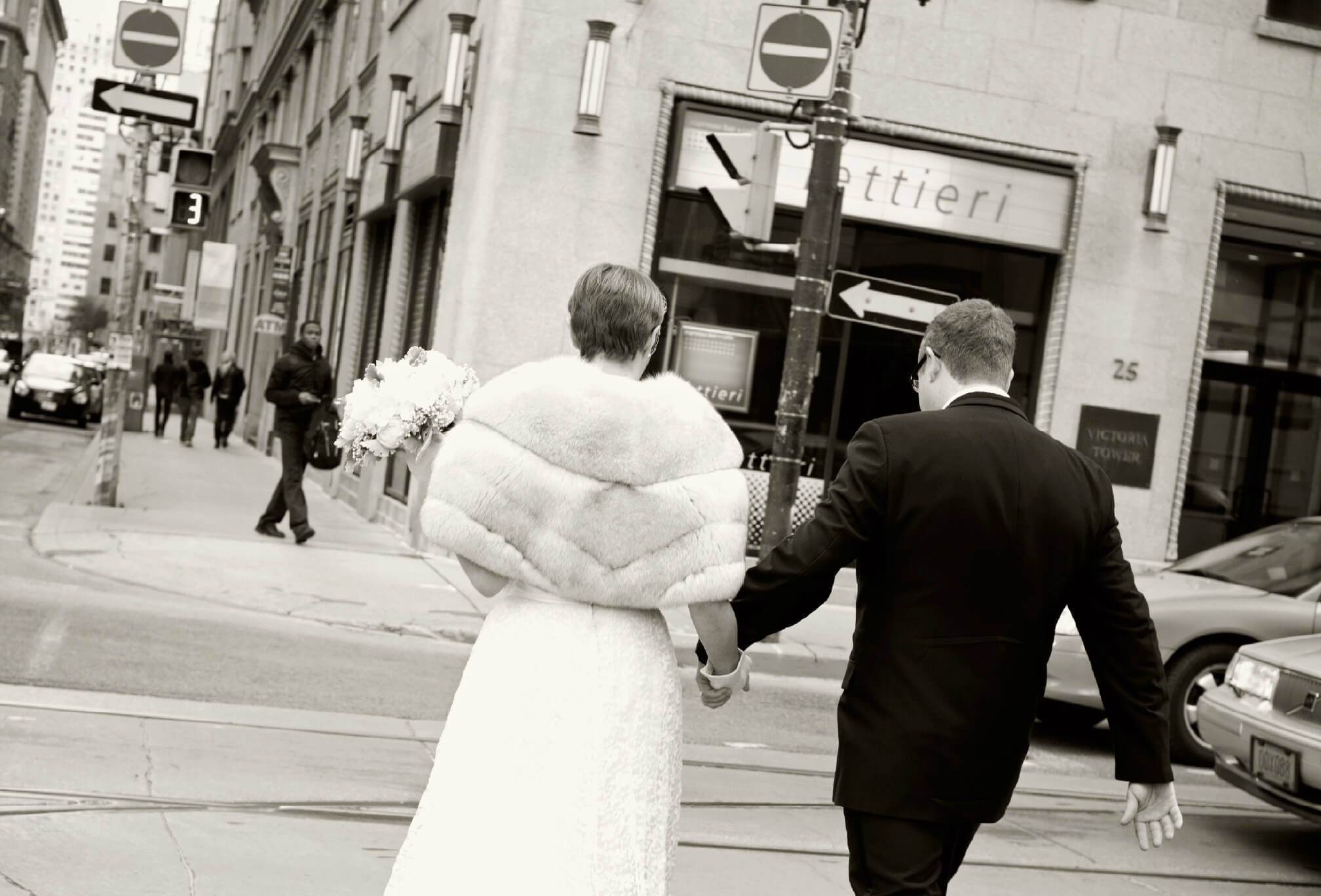 bride and groom vintage fake fur shawl