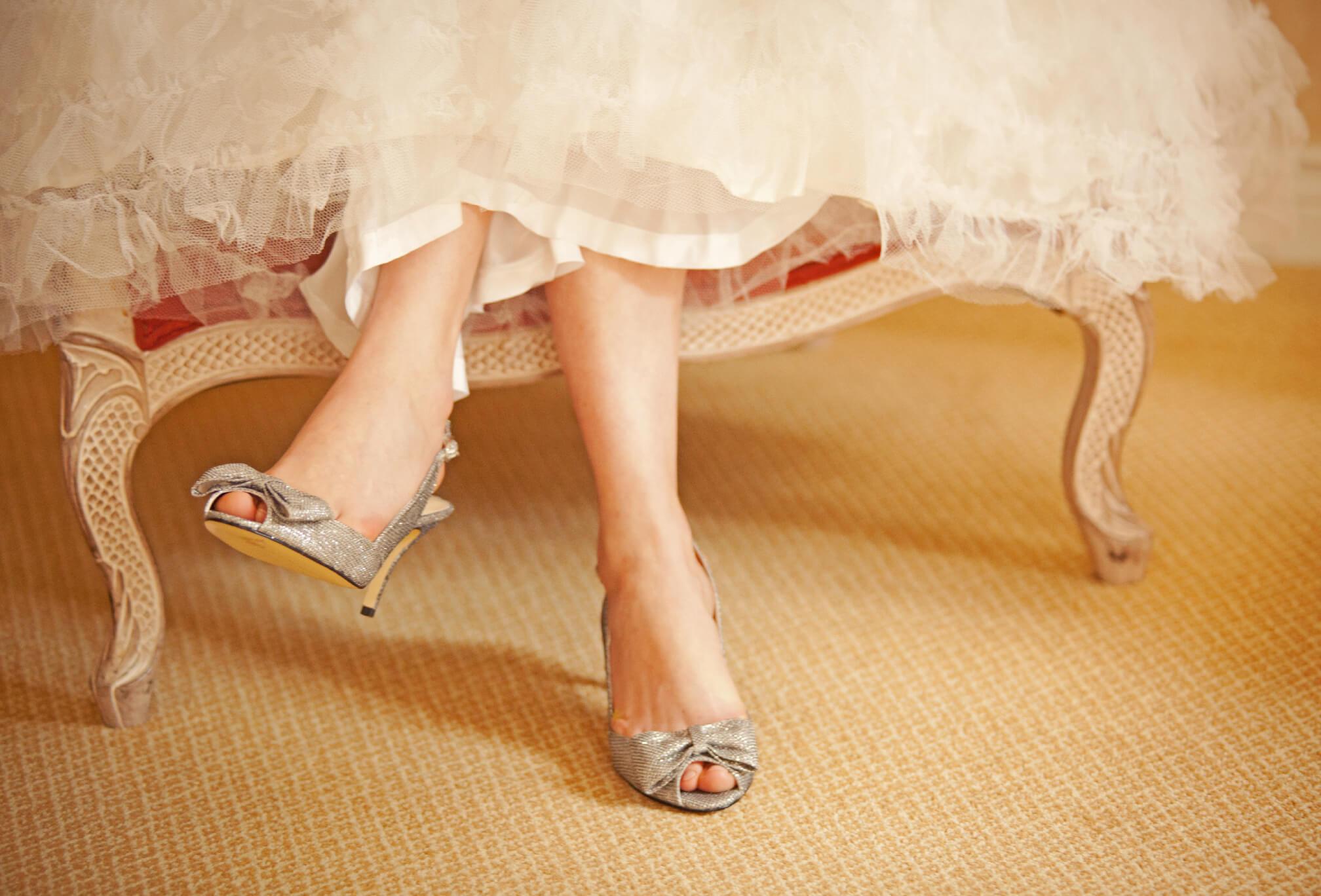 bride vintage heels detail