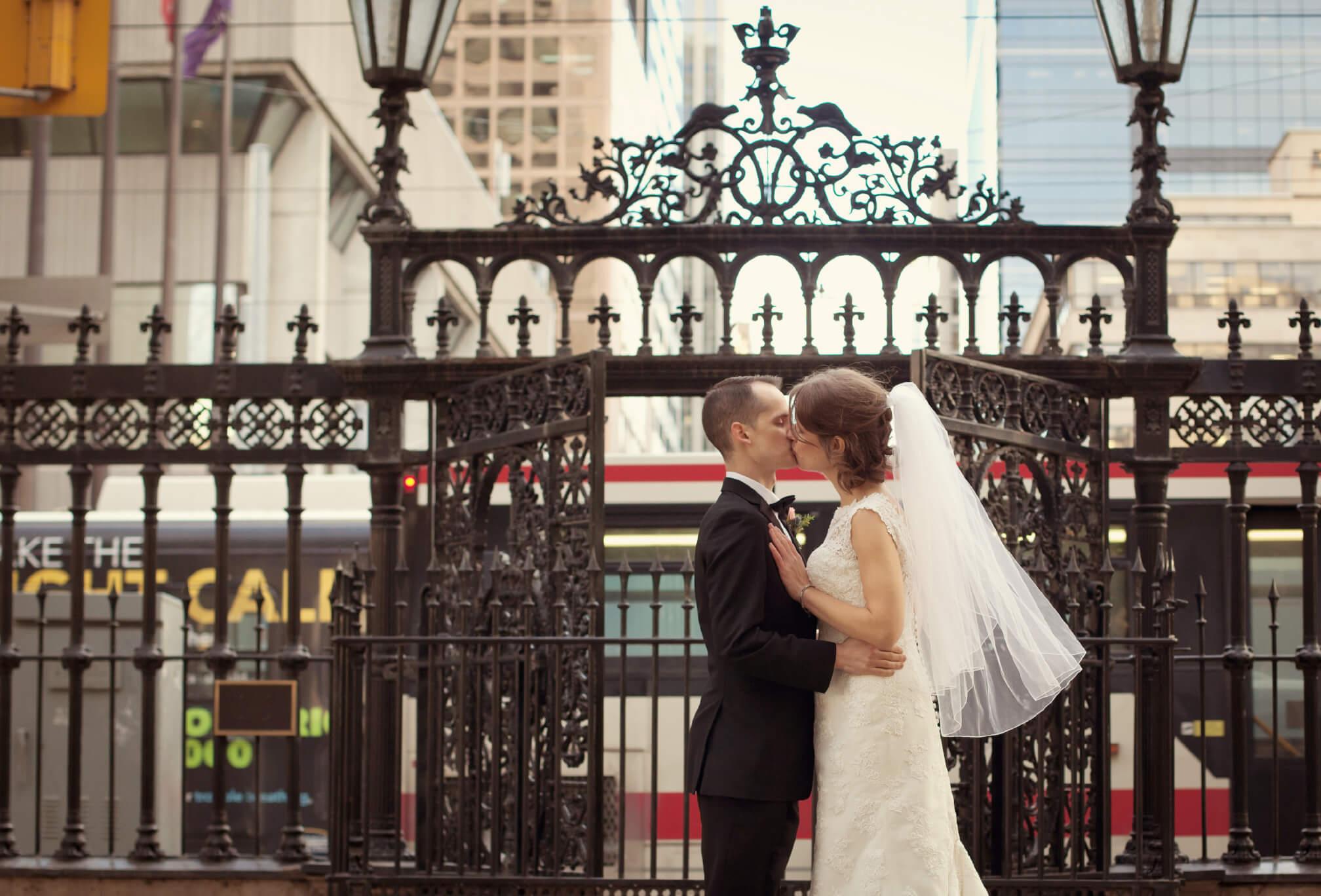 bride and groom kiss ttc