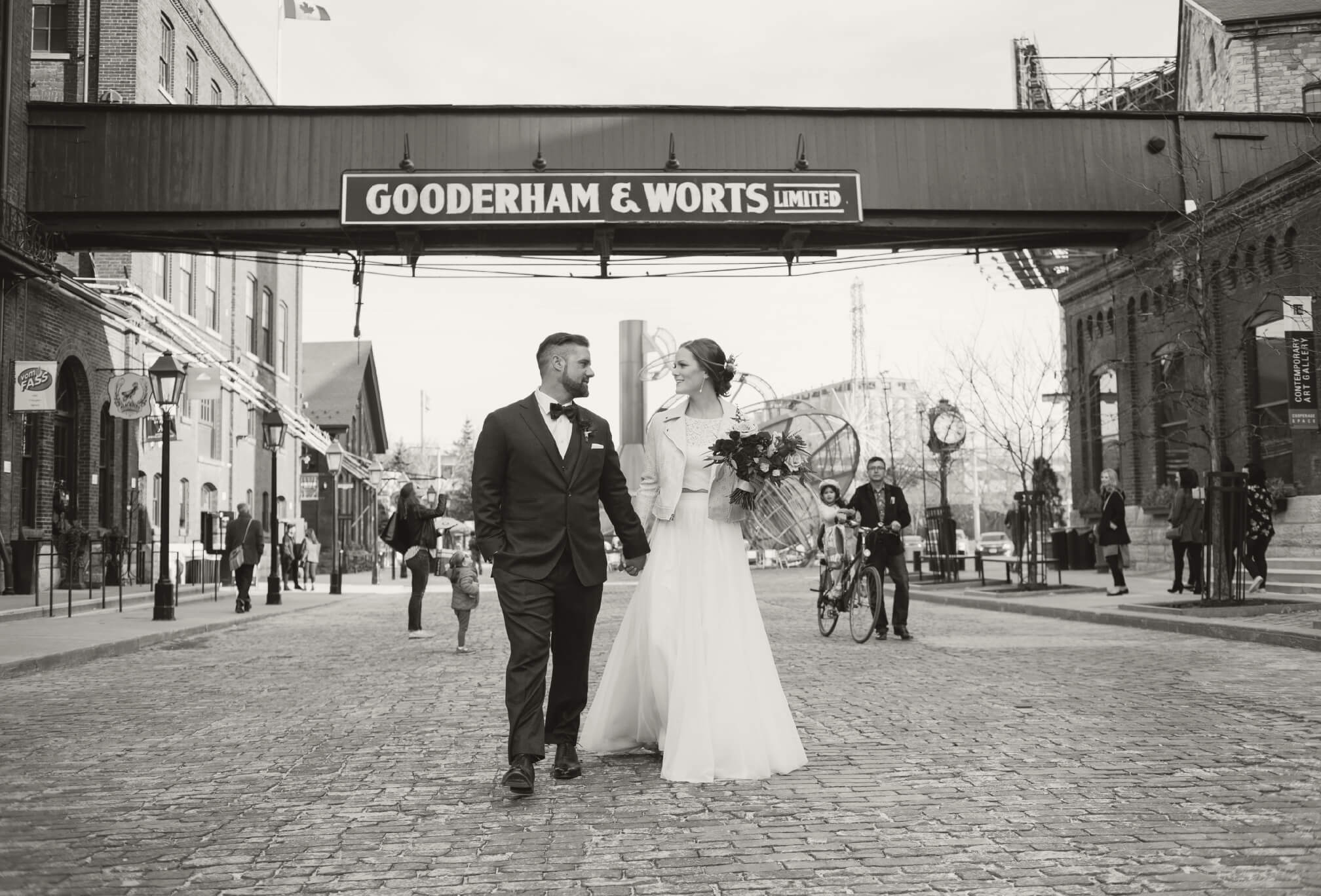 bride and groom gooderham and worts distillery