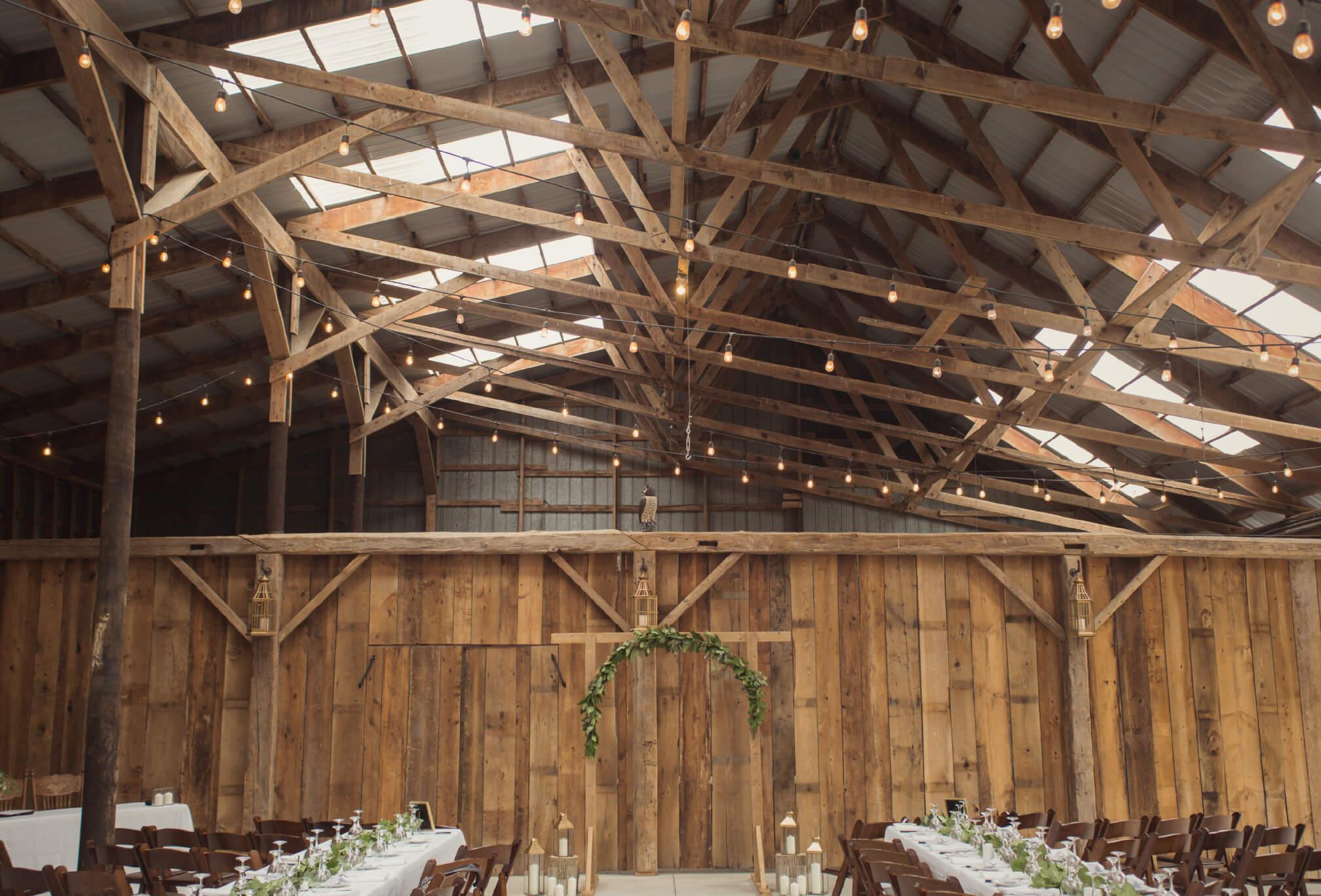 ceremony decor dyments farm wedding