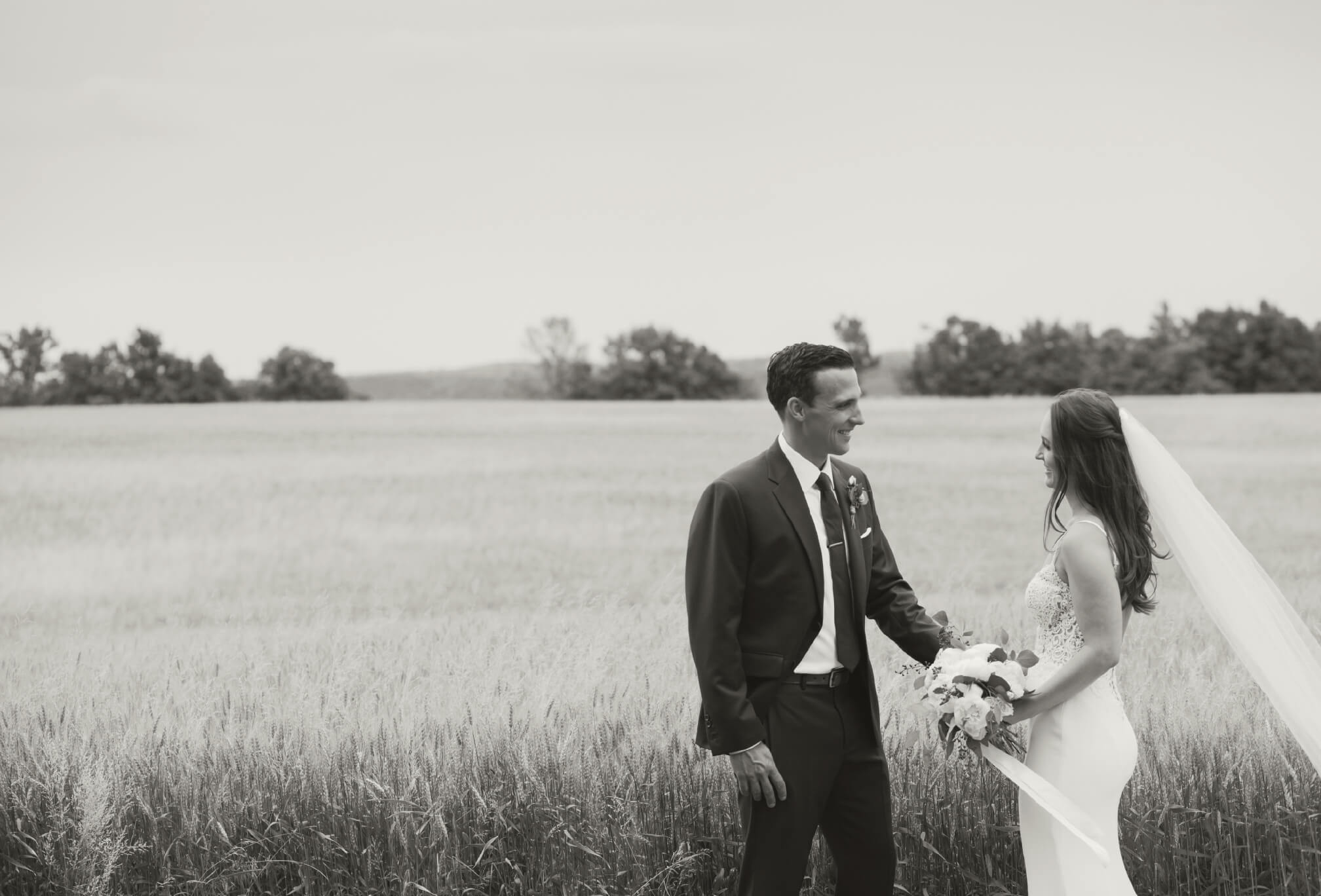 bride and groom at dyments farm