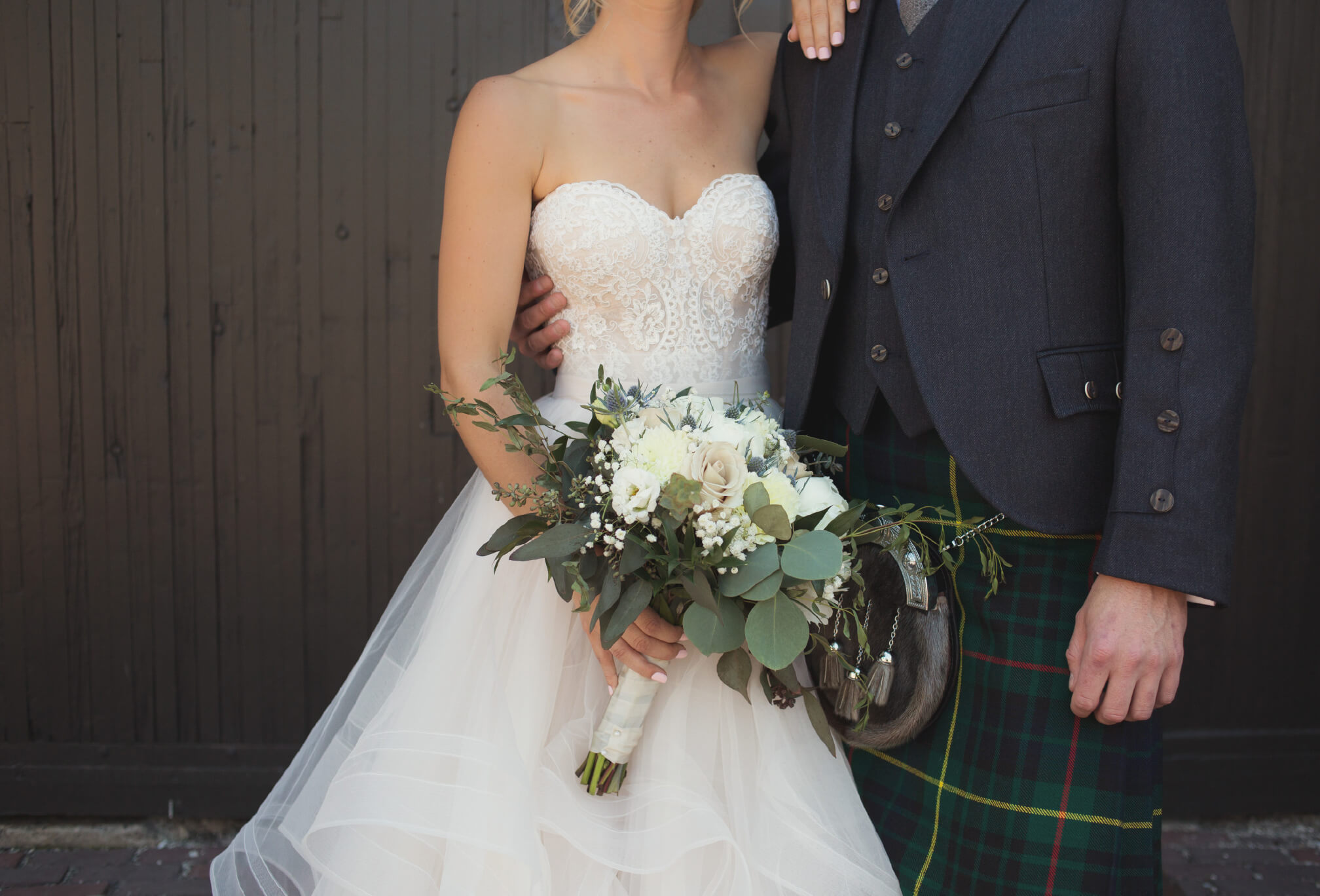 bride and groom scottish wedding toronto