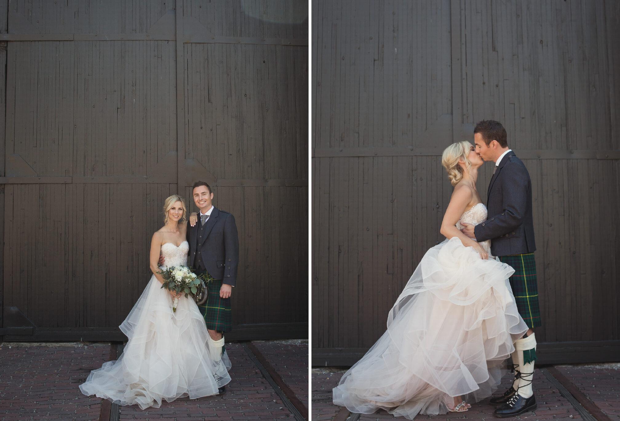 wedding photos near steam whistle brewery