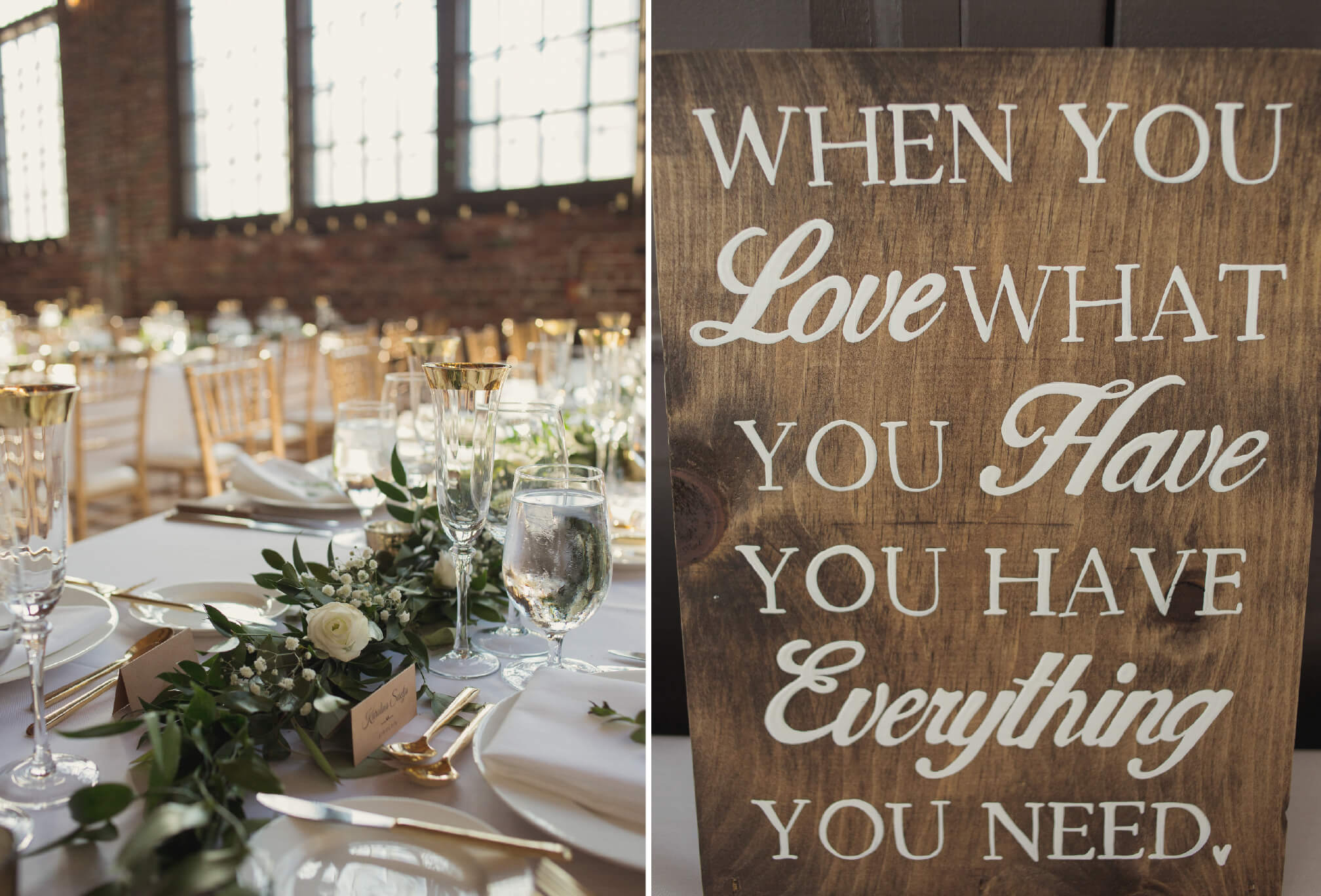 gorgeous wedding decor at steam whistle brewery