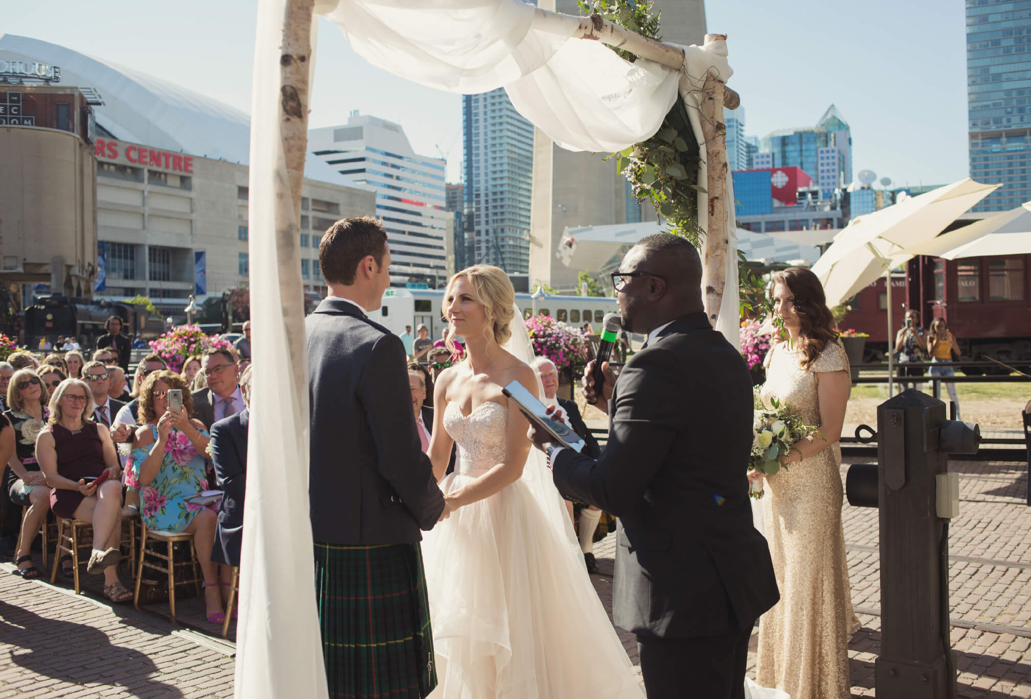 ceremony on deck at steam whistle