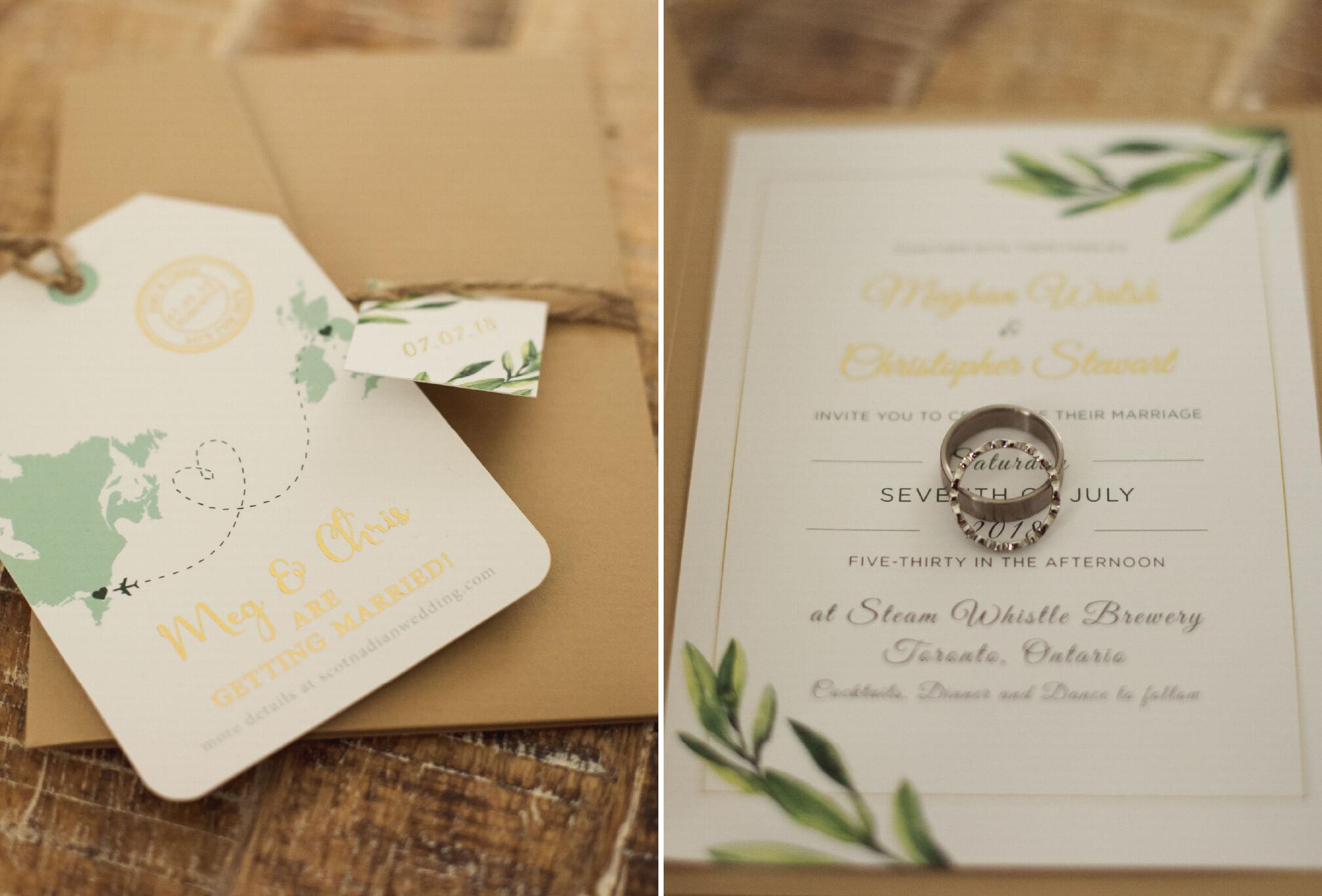 wedding invite detail