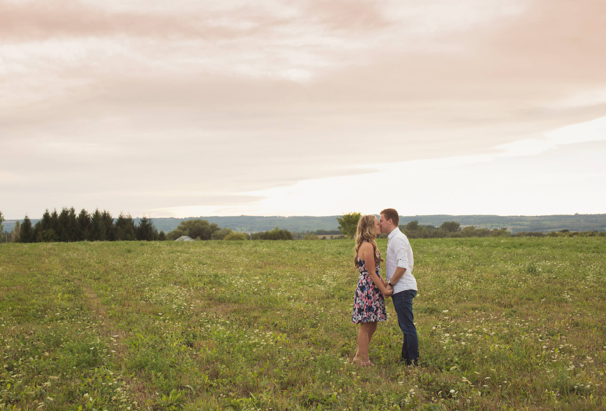 sunset engagement beaver valley
