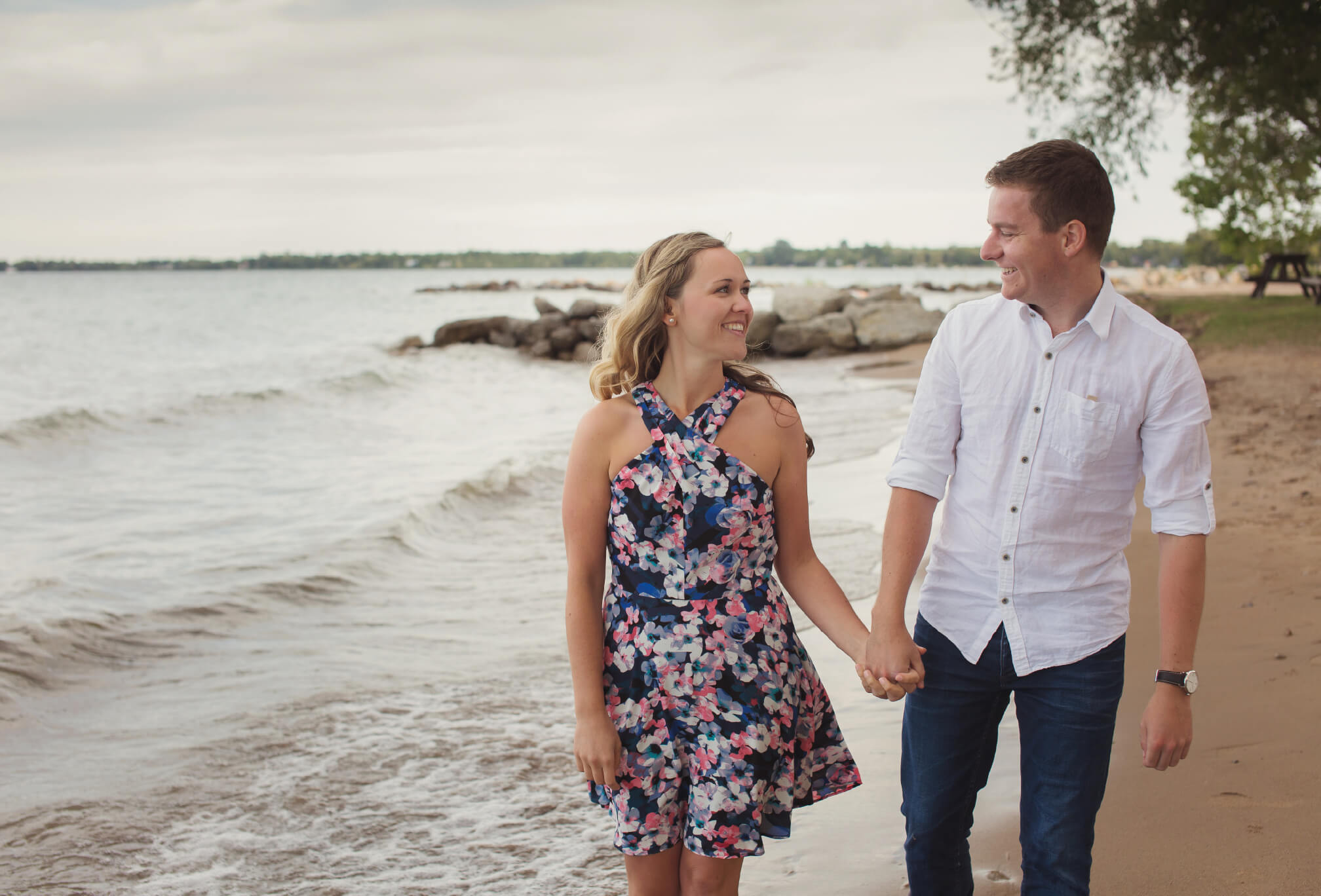 sunset beach engagement