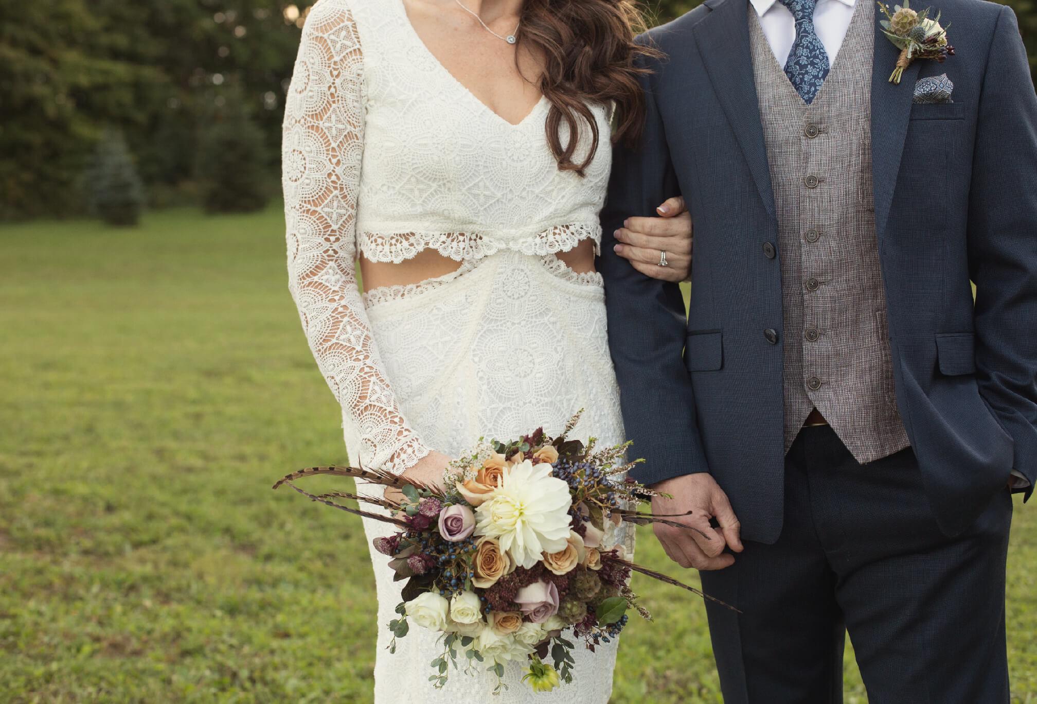 lace dress boho wedding style