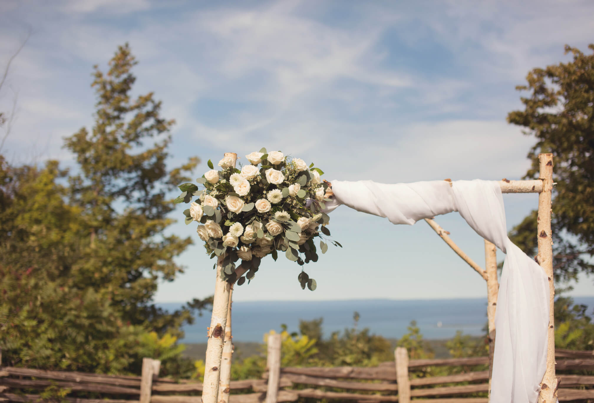 mountain top ceremony and blue