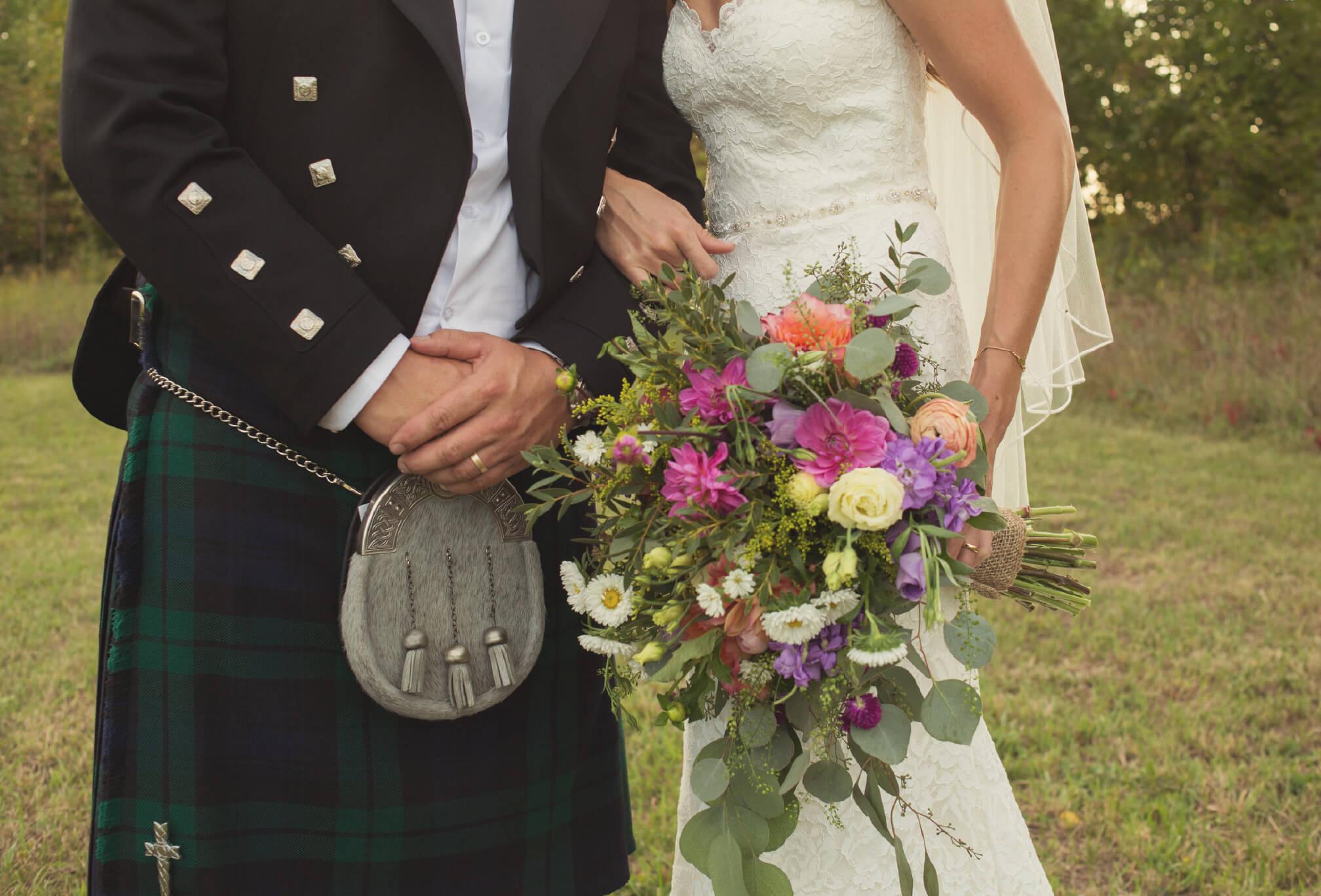farm wedding wildflower bouquet