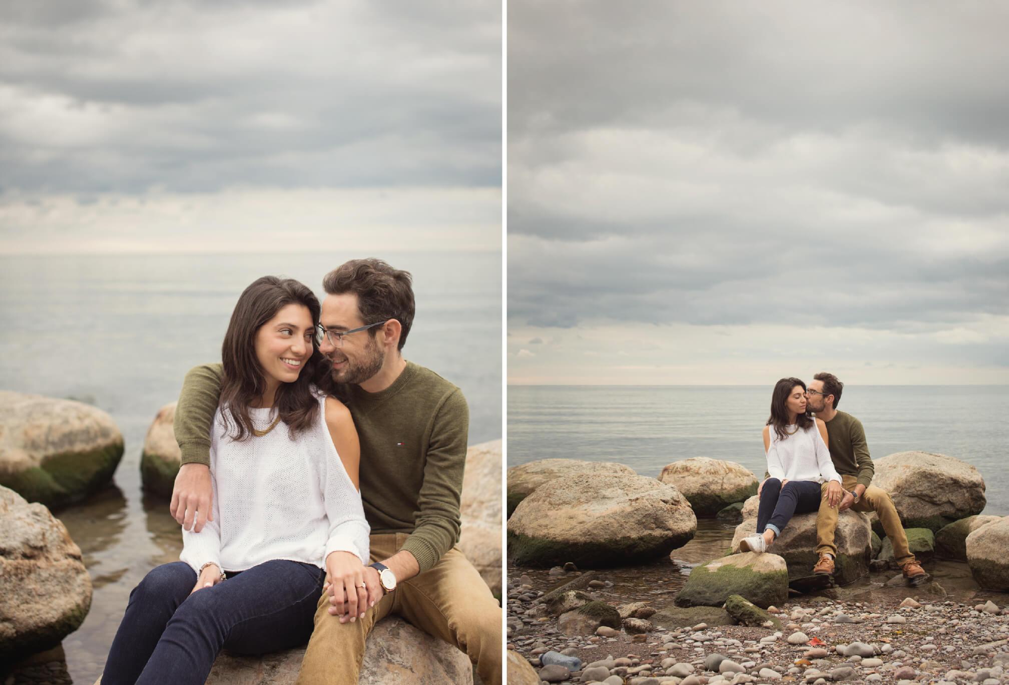 couple sitting on ricks waterfront ajax