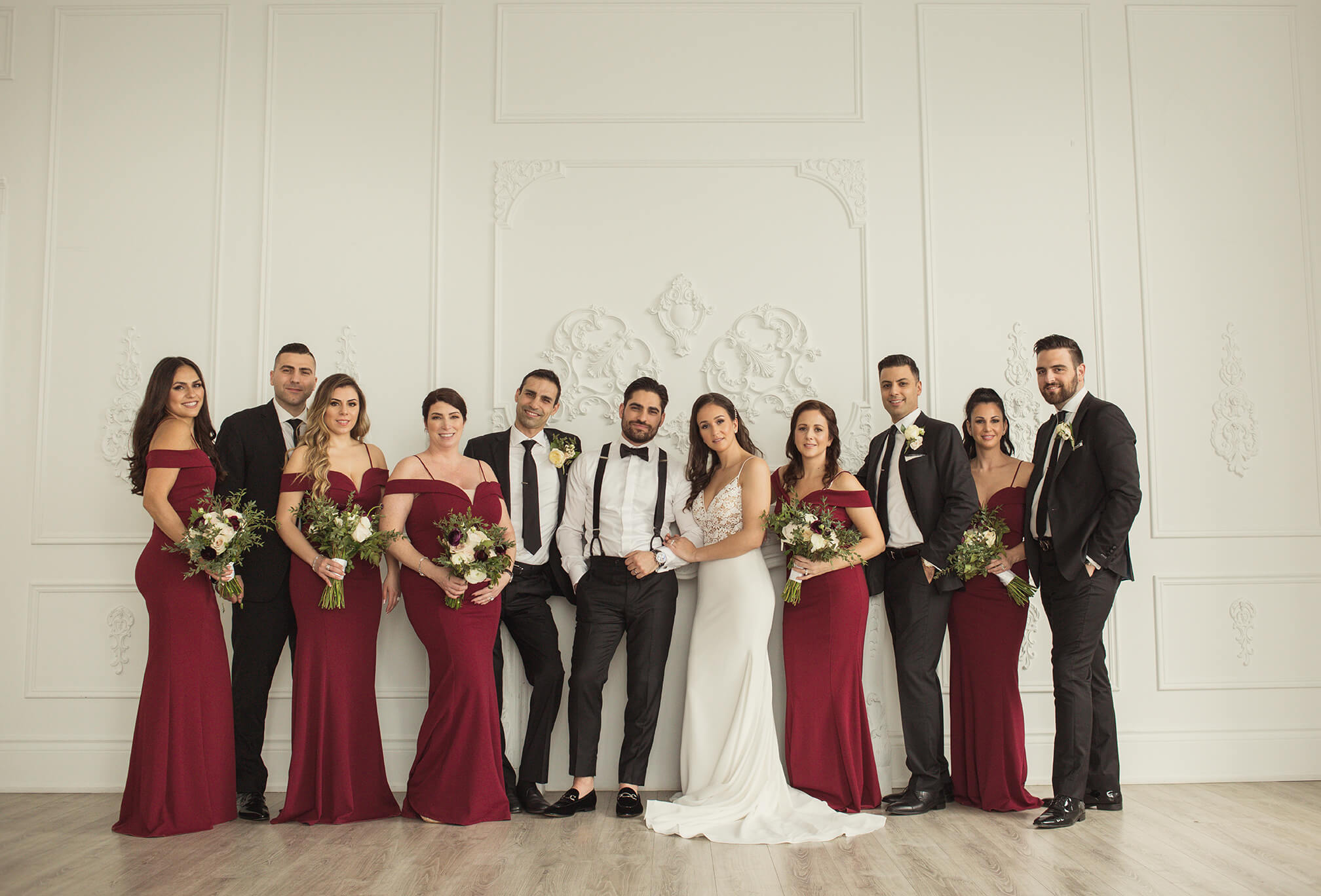 bridal party photography at mint room studios toronto