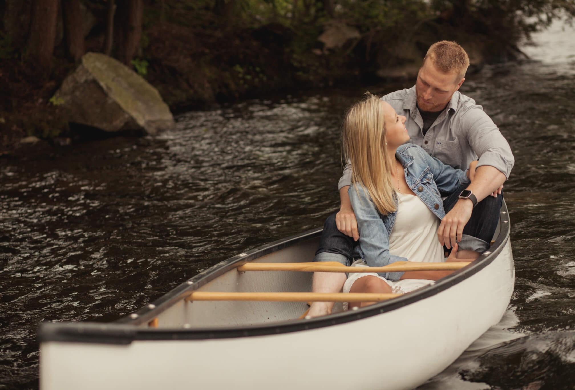 canoe engagement session ideas