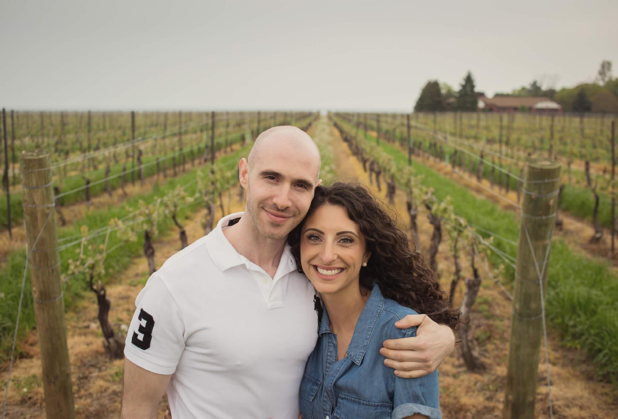 konzelmann winery engagement pics
