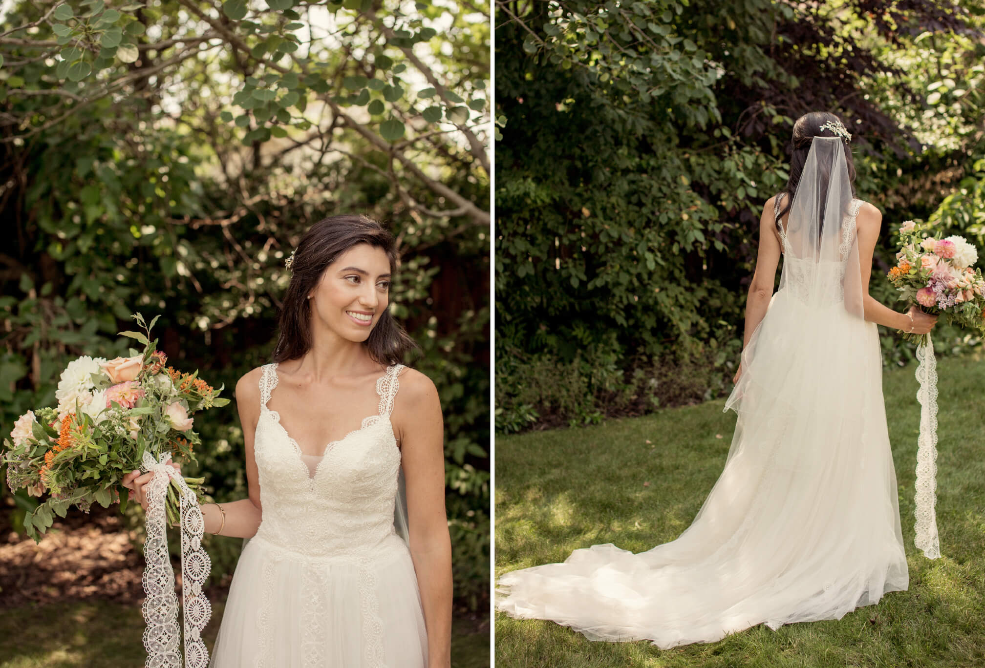 summer bride wedding dress