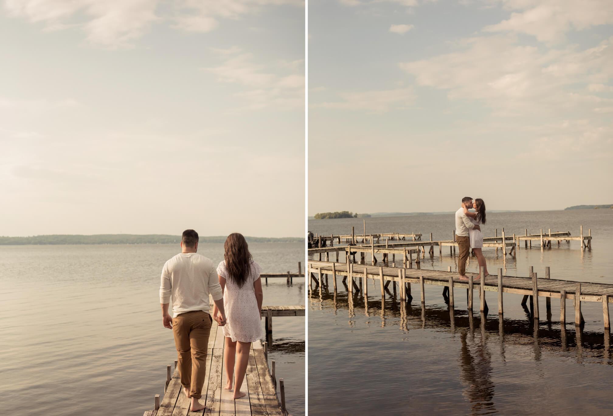 lakeside engagement photos ontario