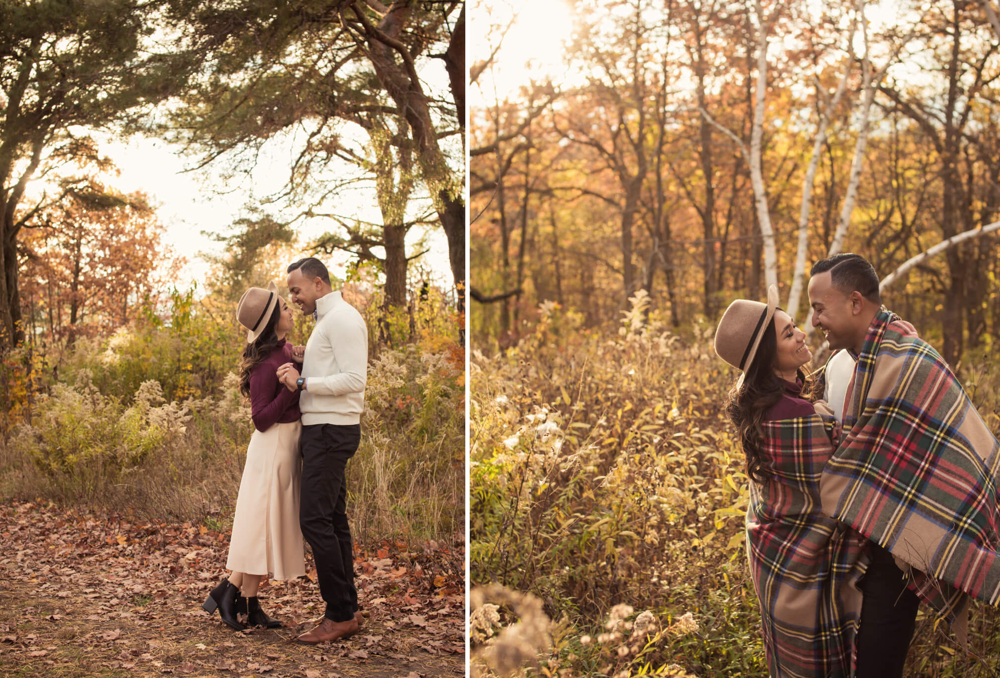 sunset engagement in high park
