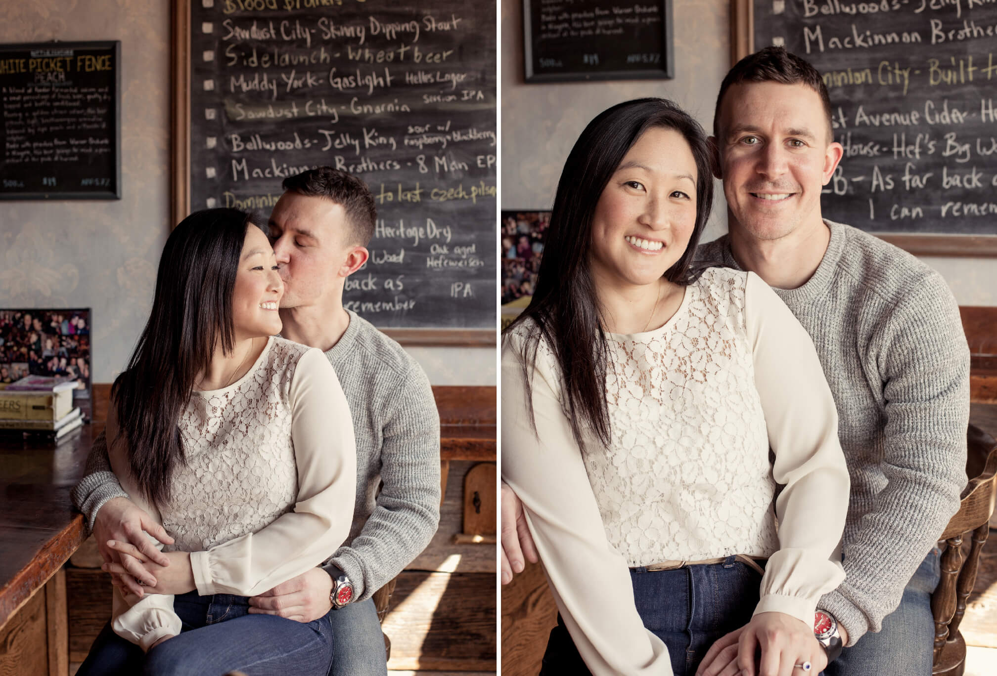 engagement photos at the wren