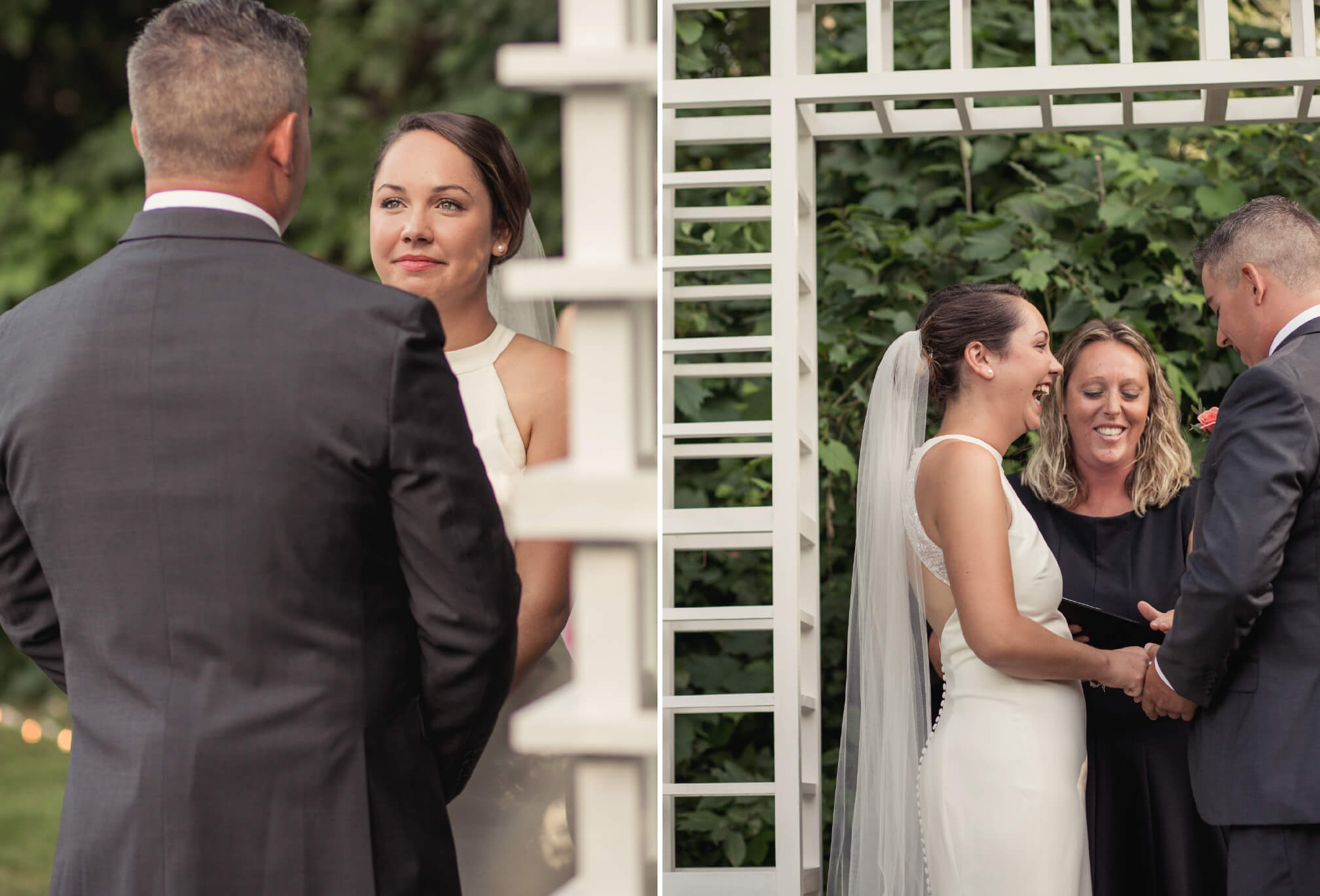 bride and groom ceremony vows