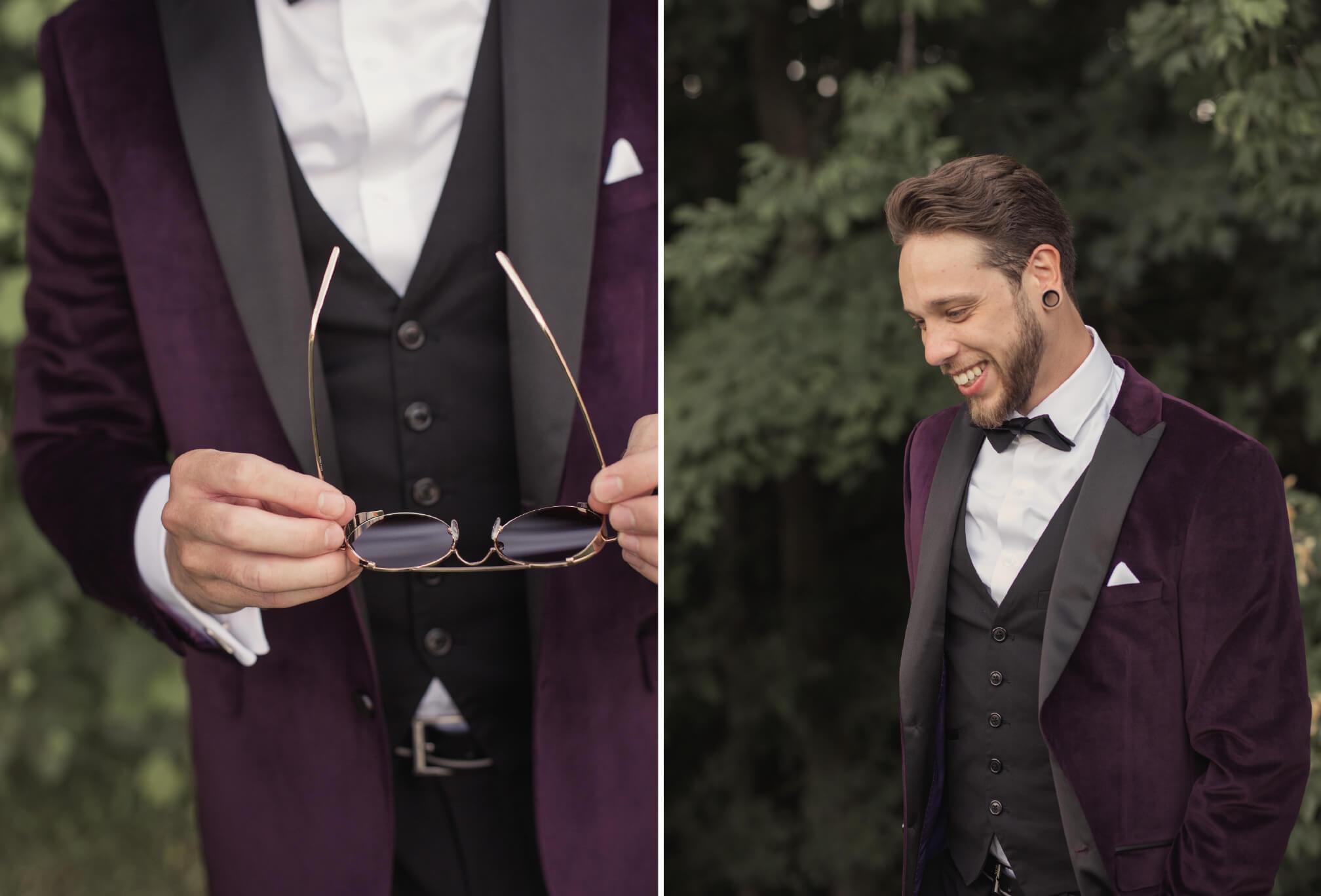 groom style burgundy